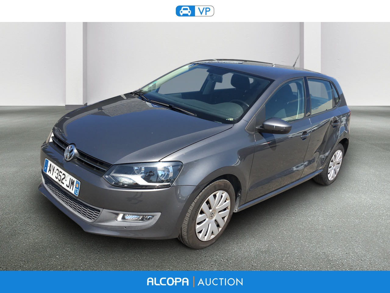 volkswagen polo 06 2009 04 2014 polo 1 6 tdi 90 cr fap confortline alcopa auction. Black Bedroom Furniture Sets. Home Design Ideas