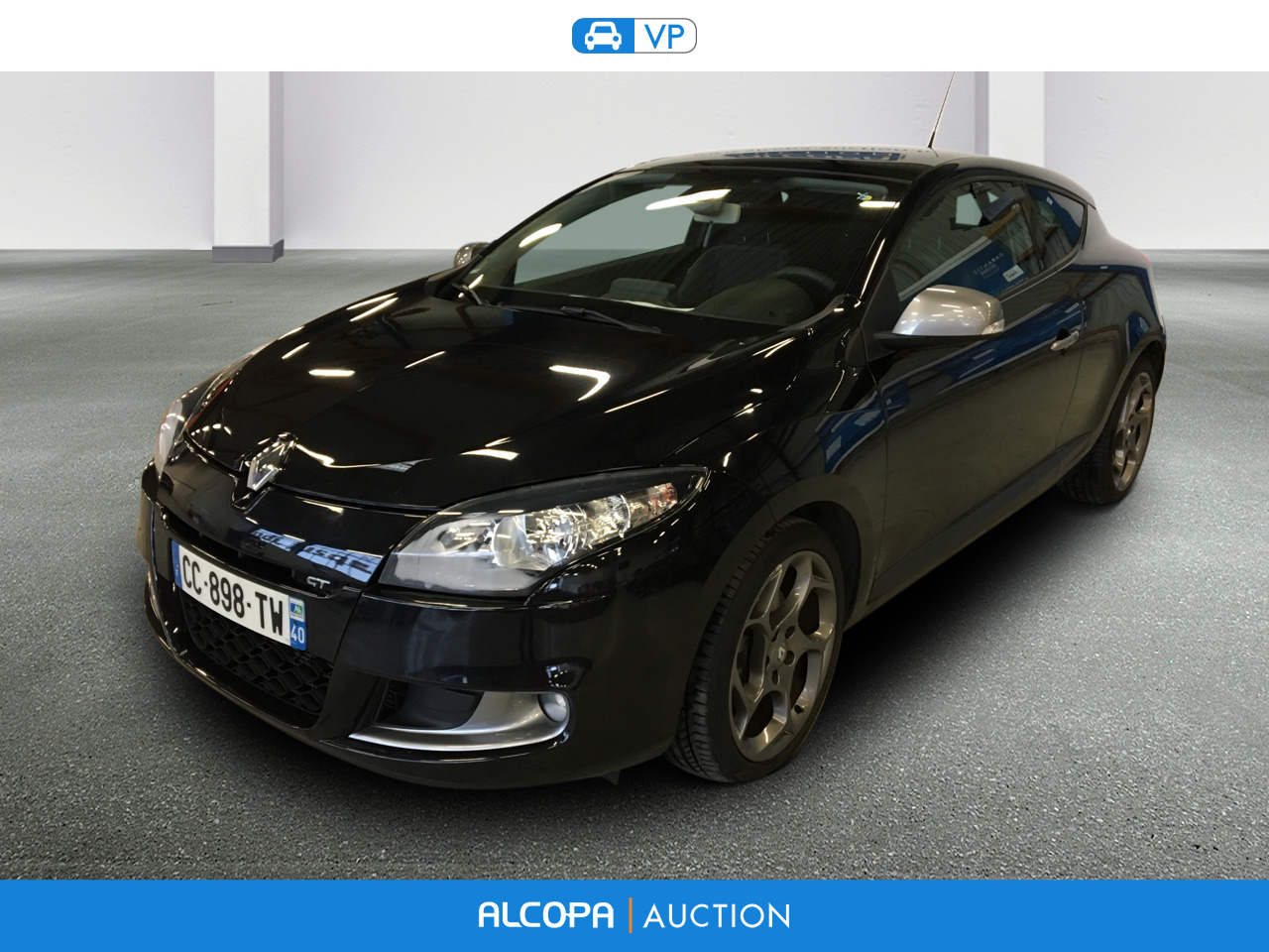 renault megane megane coupe 2 0 dci160 fap gt rennes alcopa auction. Black Bedroom Furniture Sets. Home Design Ideas