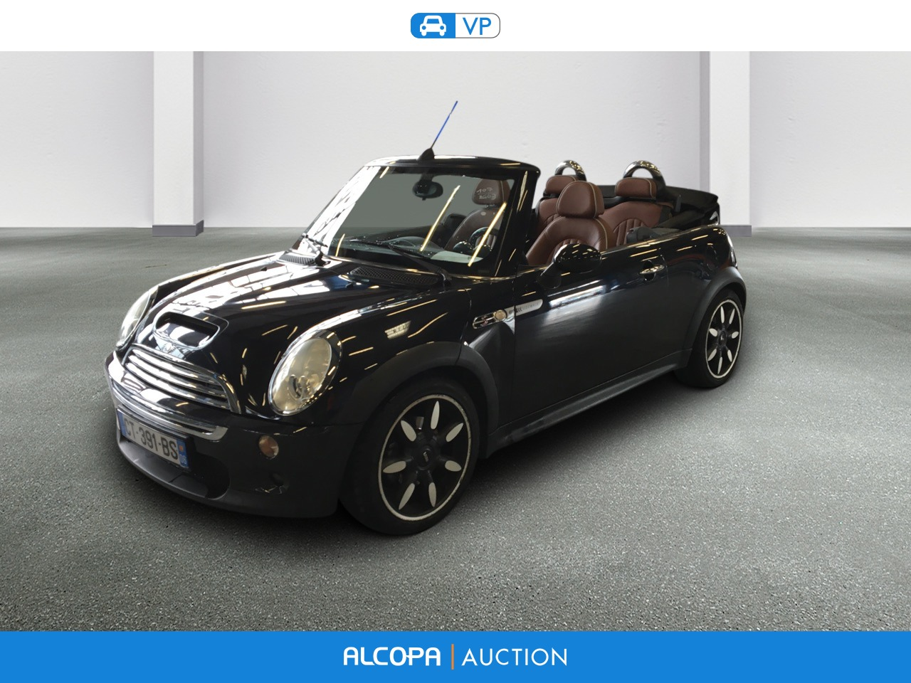 mini mini cabriolet r52 03 2007 03 2009 mini cabriolet cooper s sidewalk a alcopa auction. Black Bedroom Furniture Sets. Home Design Ideas