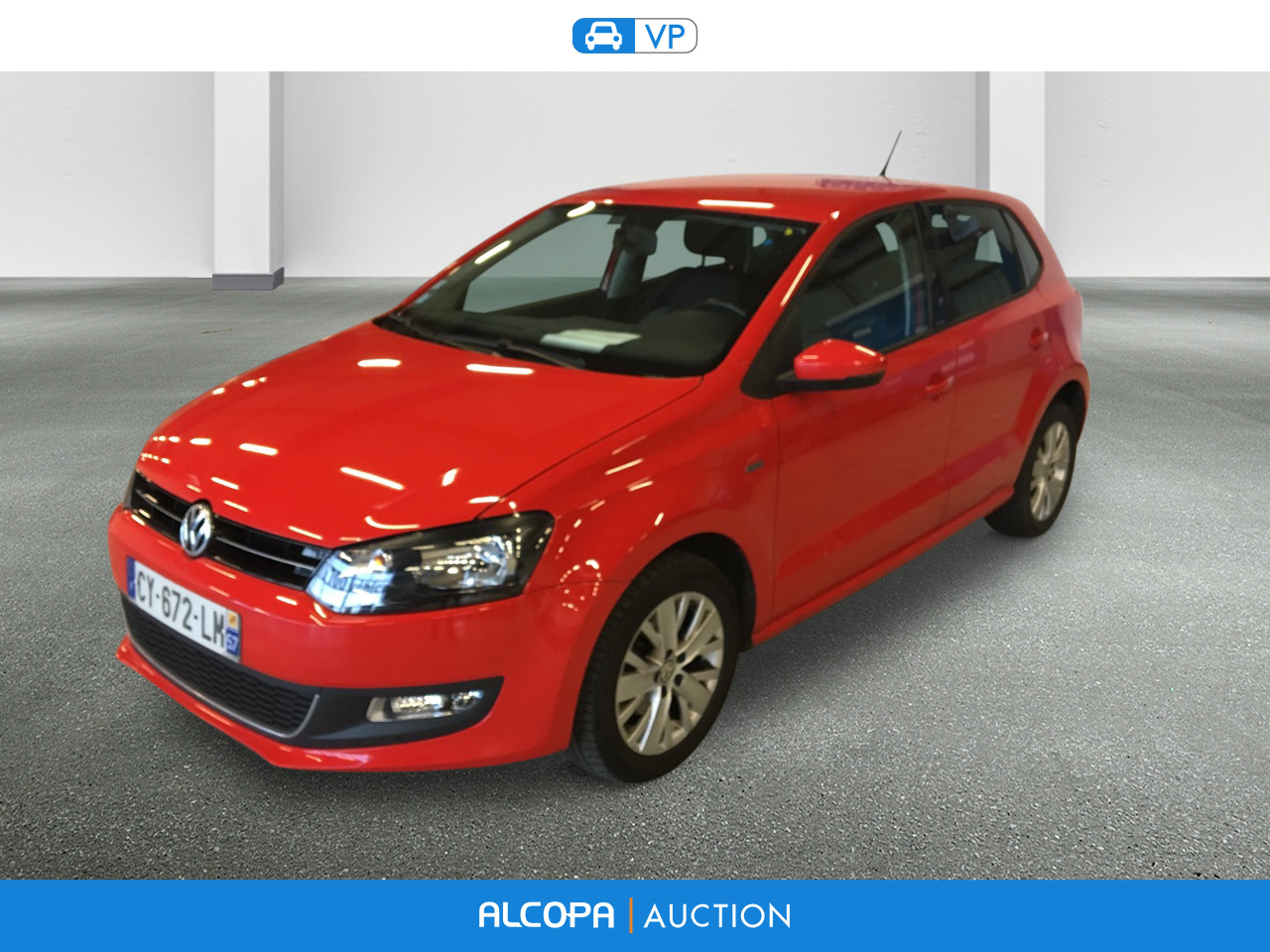 volkswagen polo polo 1 2 60ch life 5p rennes alcopa auction. Black Bedroom Furniture Sets. Home Design Ideas